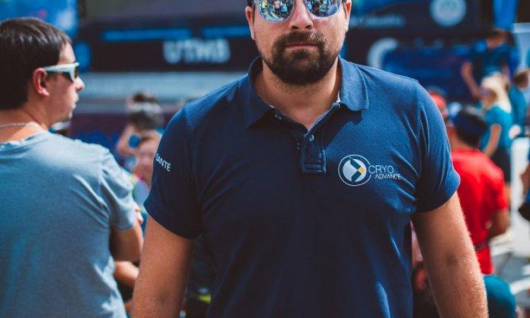 Romain Thieffry CRYO Advance lors de la remise des récompenses UTMB 2019