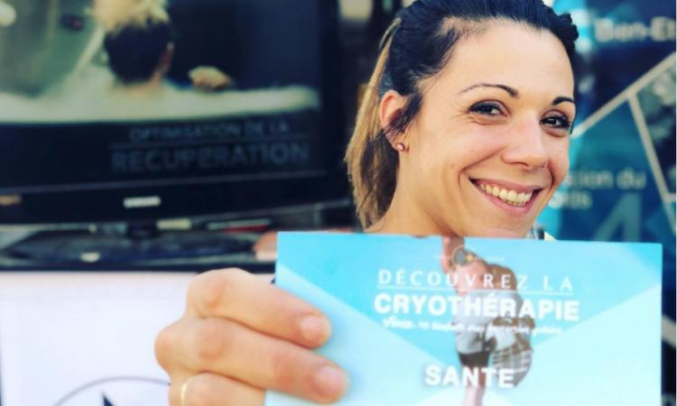 Alizée Bonnefond fondatrice CRYO Advance lors de la Run in Lyon 2018