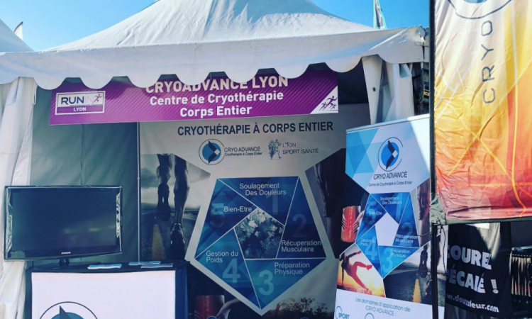 Stand Récup de CRYO Advance lors de la Run in Lyon 2017